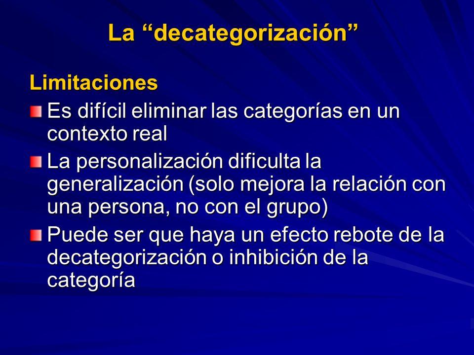 La decategorización