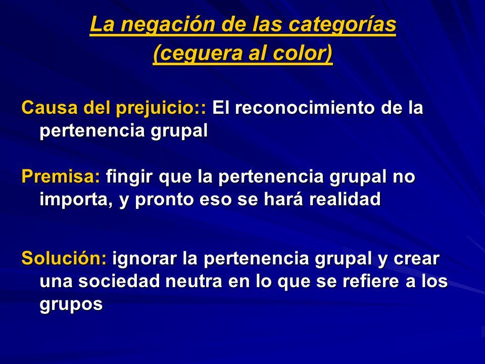 La negación de las categorías (ceguera al color)