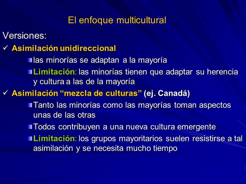 El enfoque multicultural