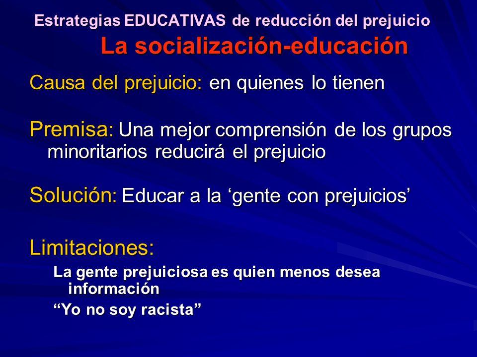 Estrategias EDUCATIVAS de reducción del prejuicio