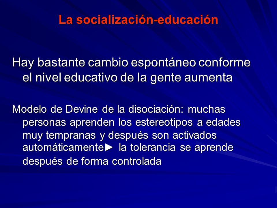 La socialización-educación