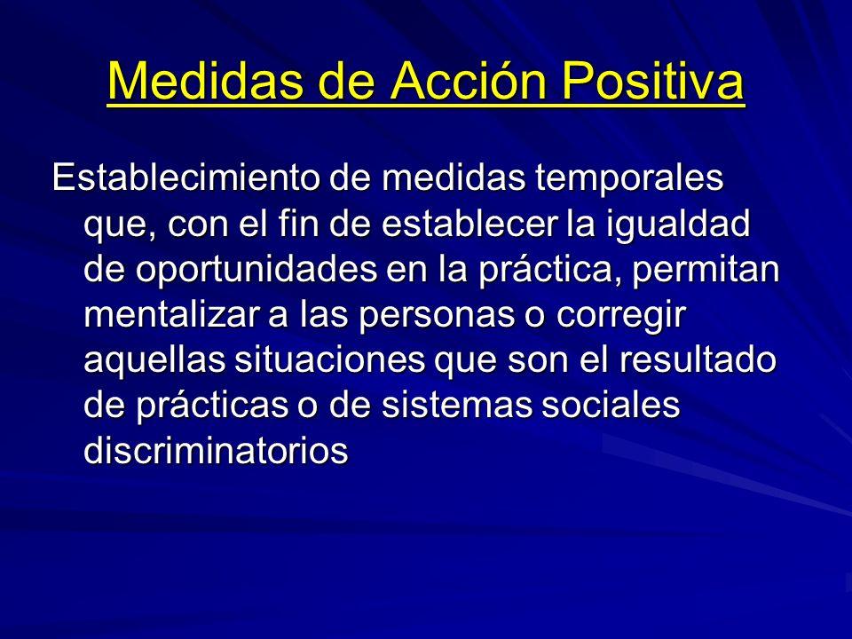 Medidas de Acción Positiva