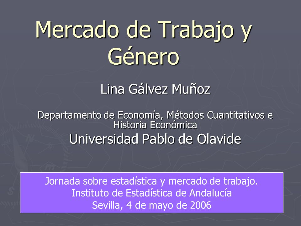 Mercado de Trabajo y Género