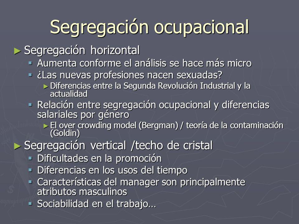 Segregación ocupacional