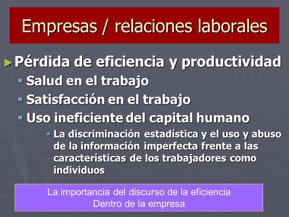 Empresas / relaciones laborales