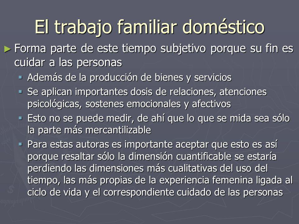 El trabajo familiar doméstico