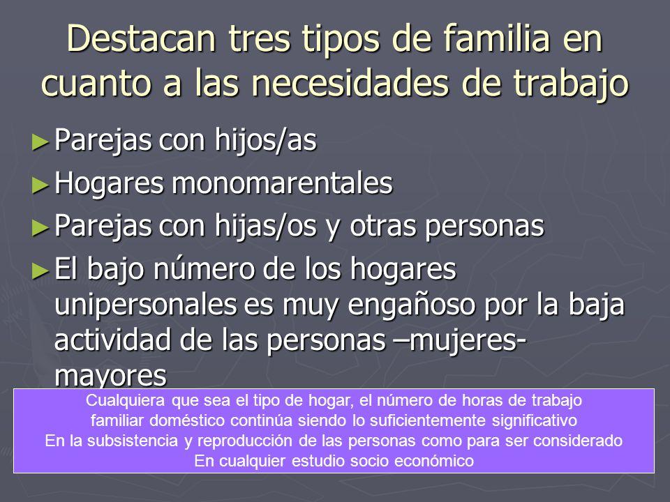 Destacan tres tipos de familia en cuanto a las necesidades de trabajo