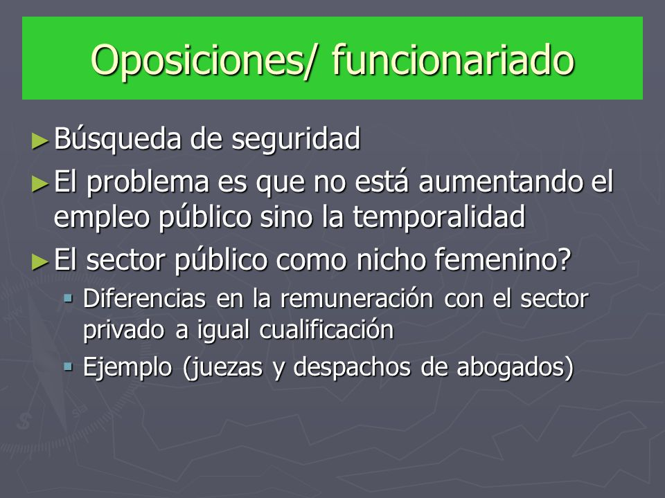 Oposiciones/ funcionariado