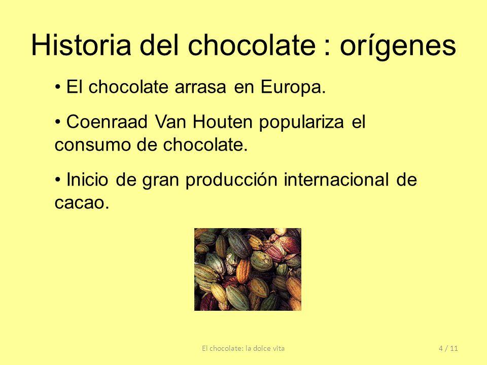 Historia del chocolate : orígenes