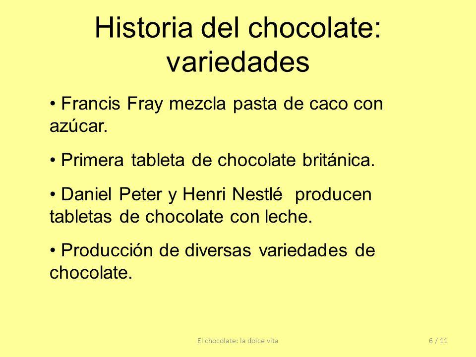 Historia del chocolate: variedades