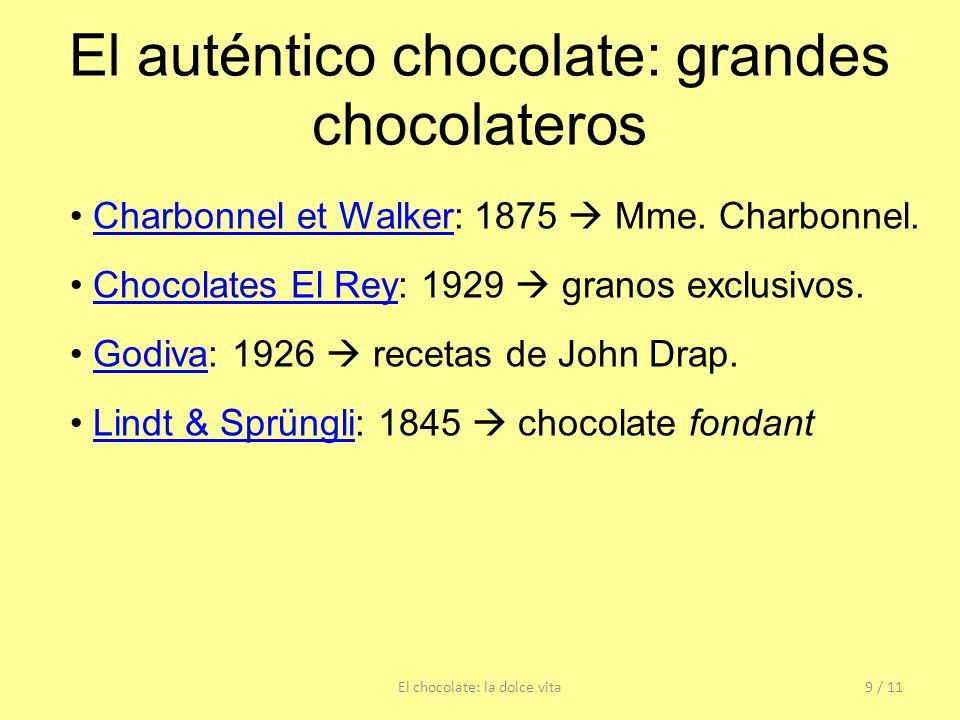 El auténtico chocolate: grandes chocolateros