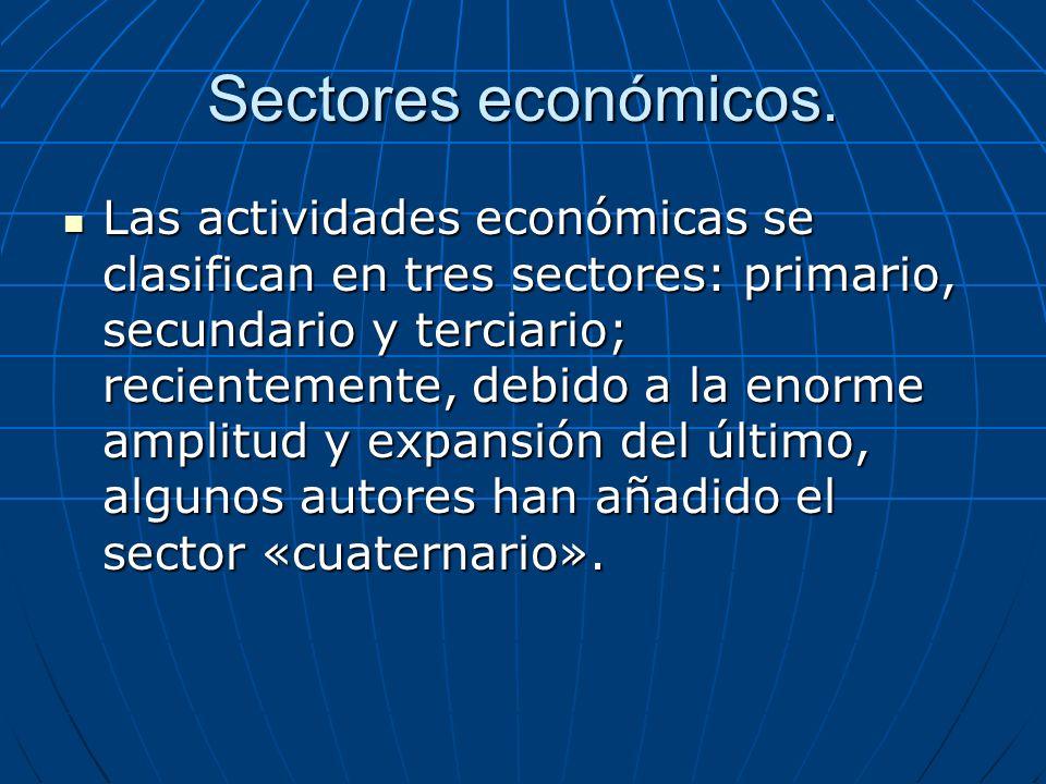 Sectores económicos.