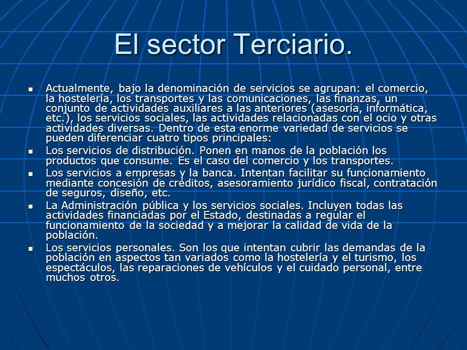 El sector Terciario.