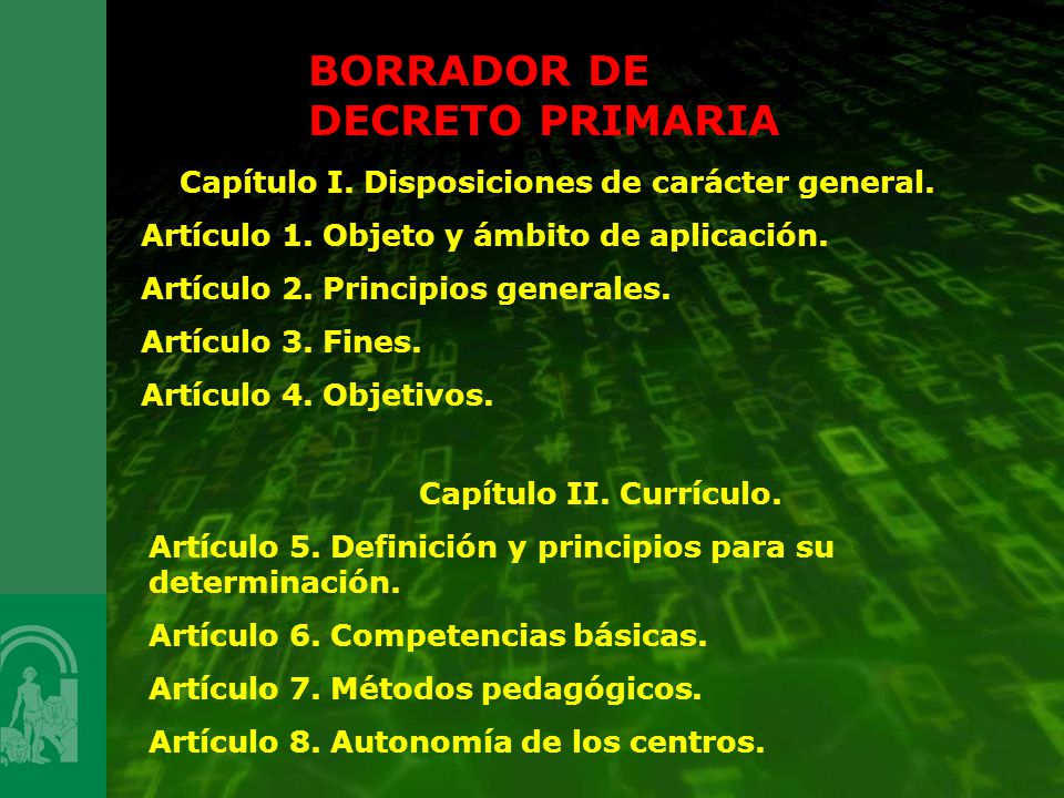 Capítulo I. Disposiciones de carácter general.