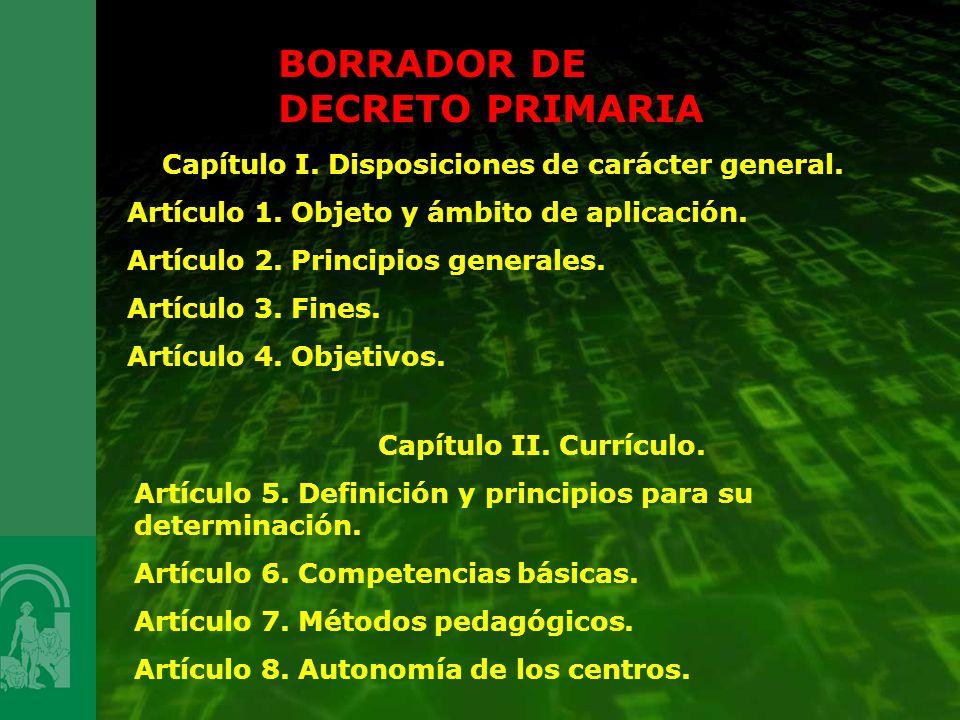 Capítulo I. Disposiciones de carácter general.