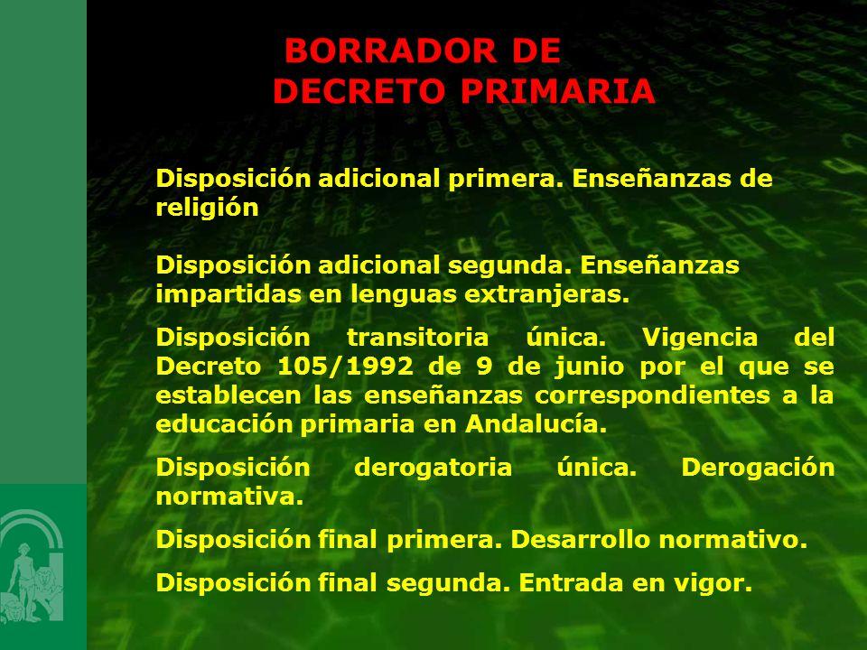BORRADOR DE DECRETO PRIMARIA