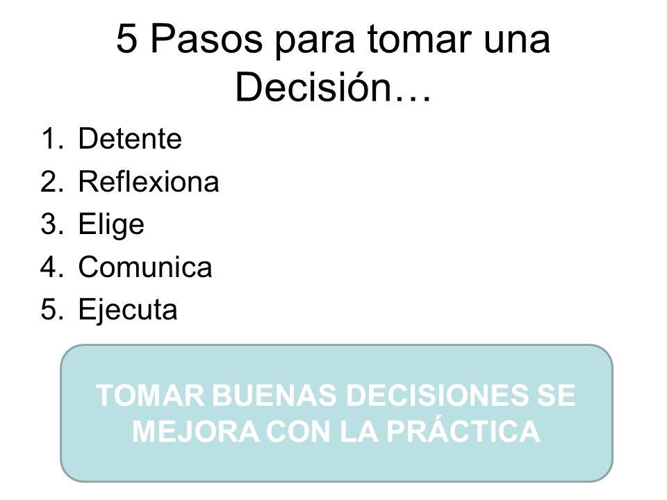5 Pasos para tomar una Decisión…