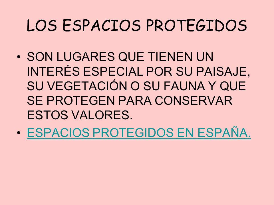 LOS ESPACIOS PROTEGIDOS