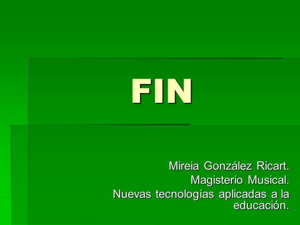 FIN Mireia González Ricart. Magisterio Musical.