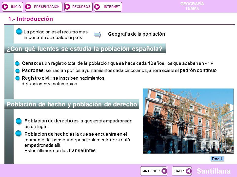¿Con qué fuentes se estudia la población española