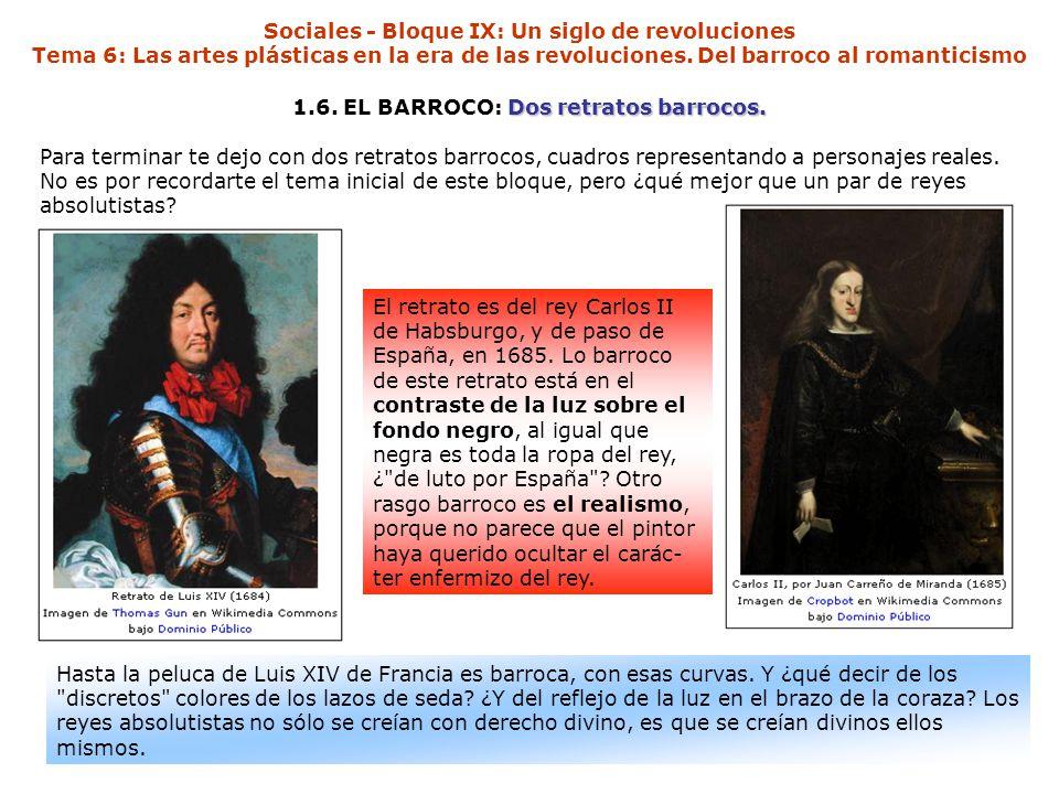 1.6. EL BARROCO: Dos retratos barrocos.