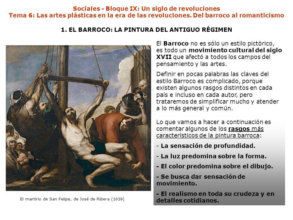 1. EL BARROCO: LA PINTURA DEL ANTIGUO RÉGIMEN