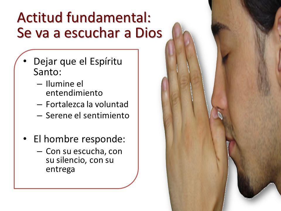Actitud fundamental: Se va a escuchar a Dios