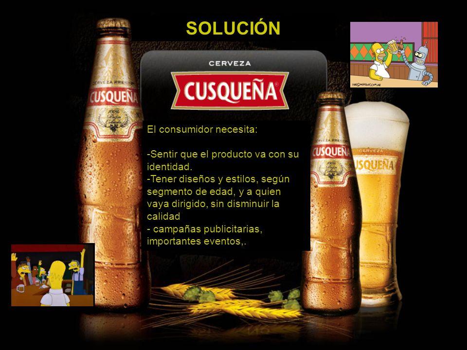 SOLUCIÓN El consumidor necesita:
