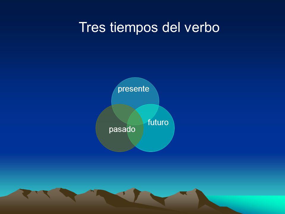Tres tiempos del verbo