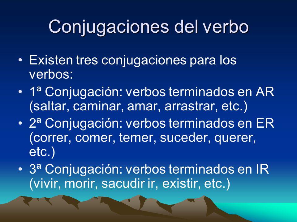Conjugaciones del verbo