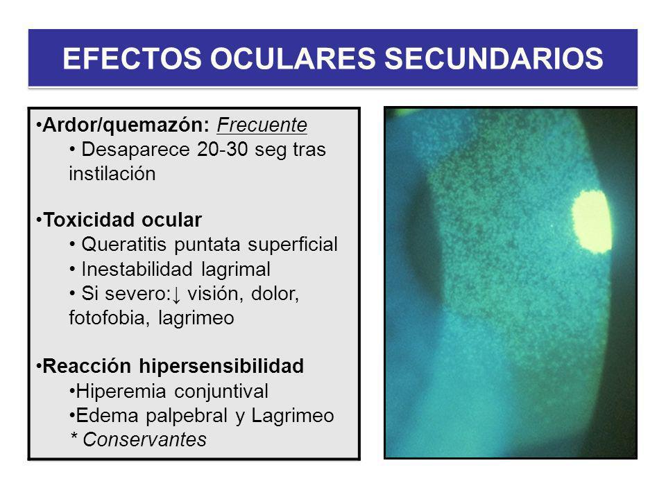 EFECTOS OCULARES SECUNDARIOS