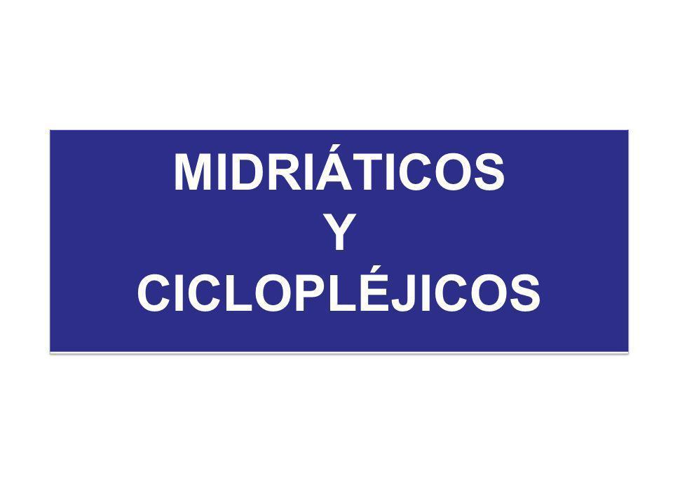 MIDRIÁTICOS Y CICLOPLÉJICOS