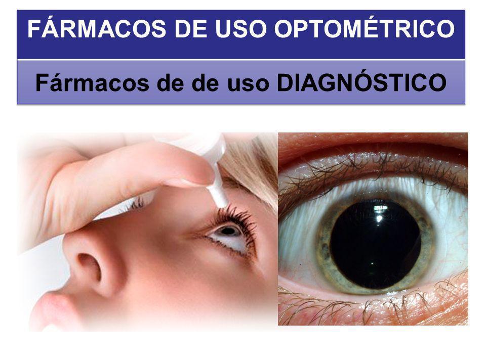 FÁRMACOS DE USO OPTOMÉTRICO Fármacos de de uso DIAGNÓSTICO
