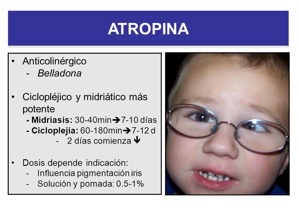 ATROPINA Anticolinérgico Belladona