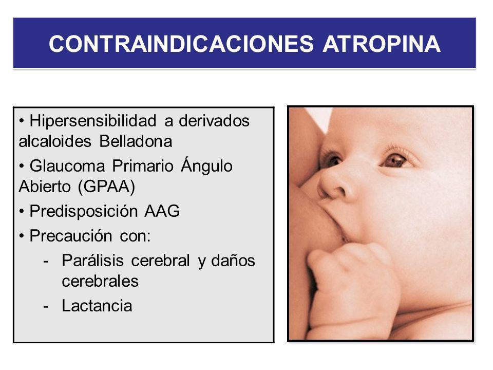 CONTRAINDICACIONES ATROPINA