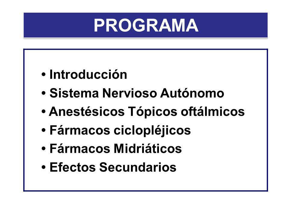 PROGRAMA • Introducción • Sistema Nervioso Autónomo