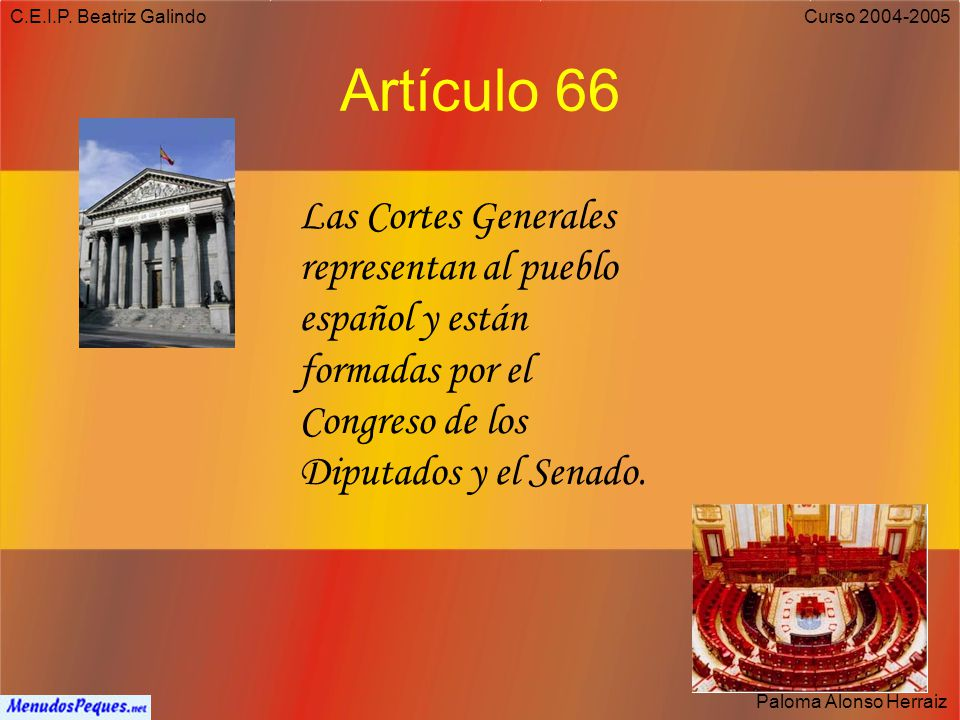 C.E.I.P. Beatriz Galindo Artículo 66.