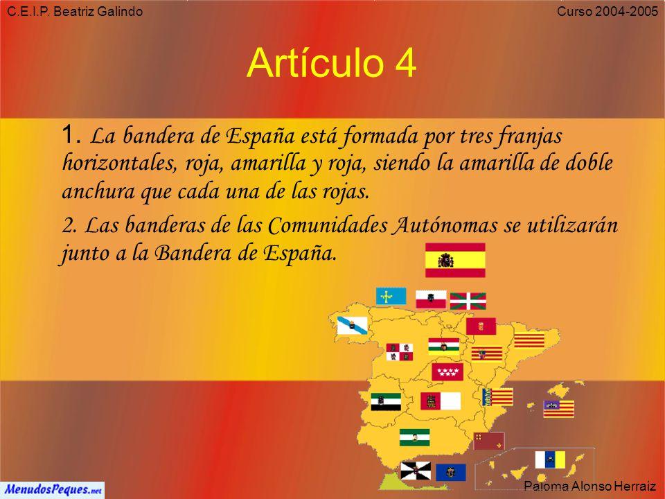 C.E.I.P. Beatriz Galindo Artículo 4.