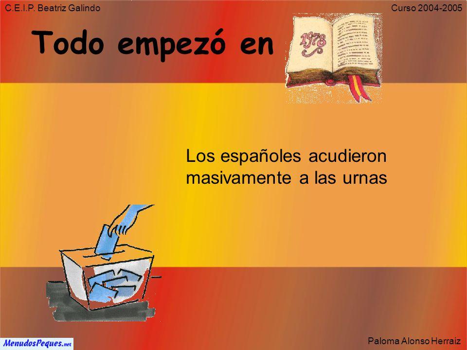 Todo empezó en Los españoles acudieron masivamente a las urnas