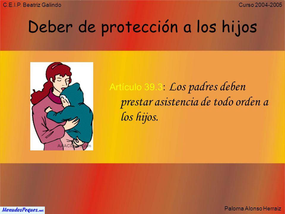 Deber de protección a los hijos