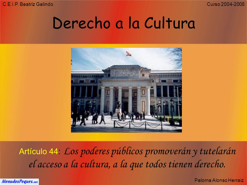 C.E.I.P. Beatriz Galindo Derecho a la Cultura.