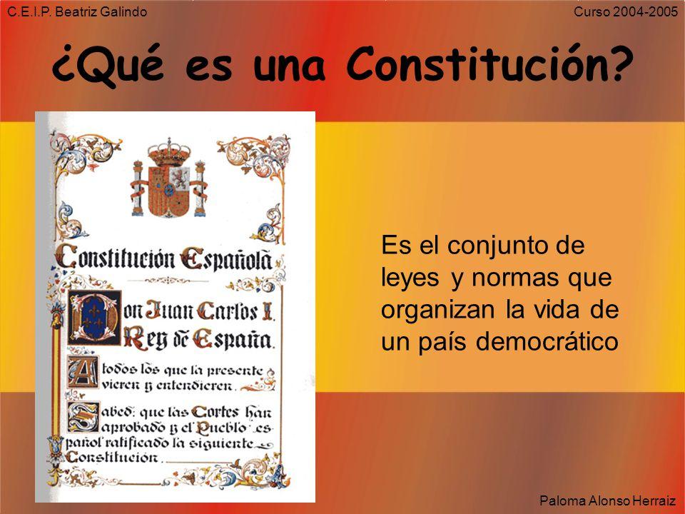 ¿Qué es una Constitución