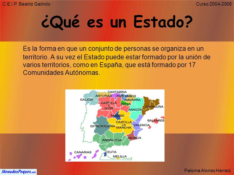 C.E.I.P. Beatriz Galindo ¿Qué es un Estado