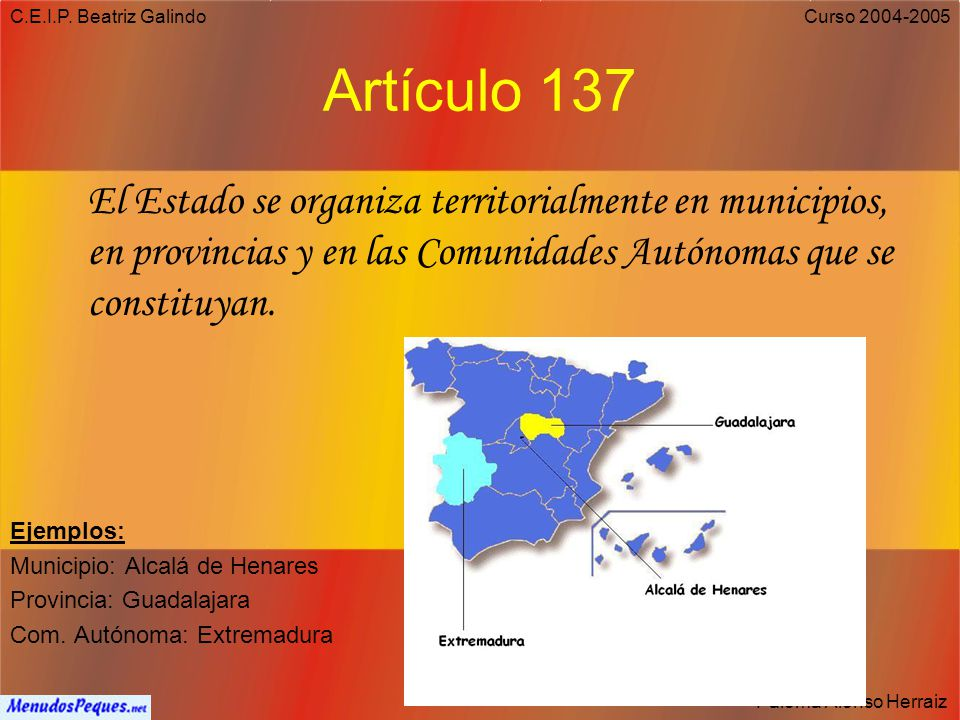 C.E.I.P. Beatriz Galindo Artículo 137.