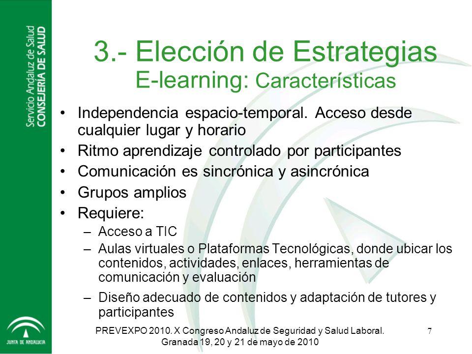 3.- Elección de Estrategias E-learning: Características