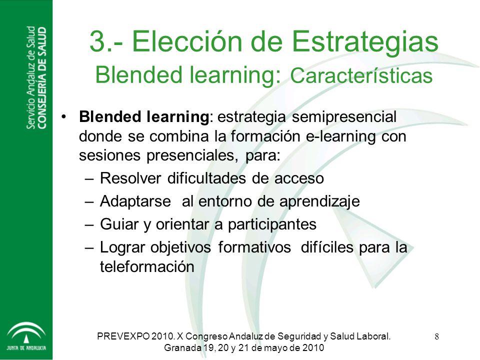3.- Elección de Estrategias Blended learning: Características