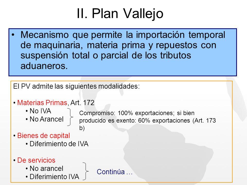 II. Plan Vallejo