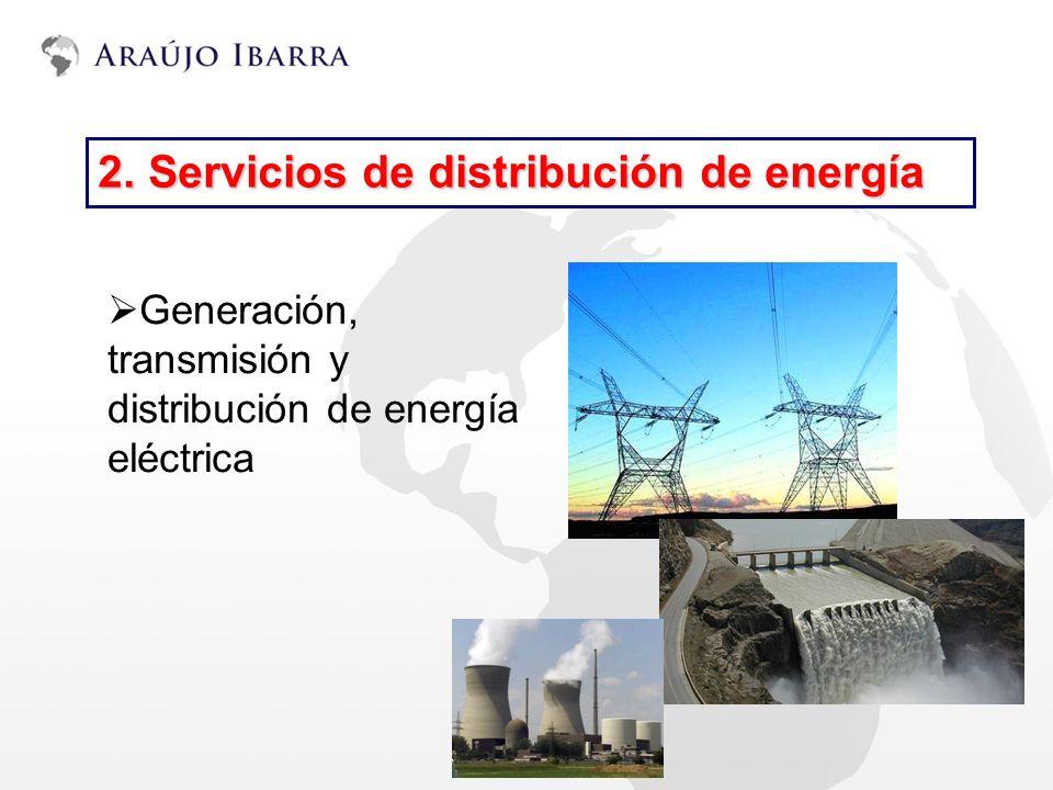 2. Servicios de distribución de energía