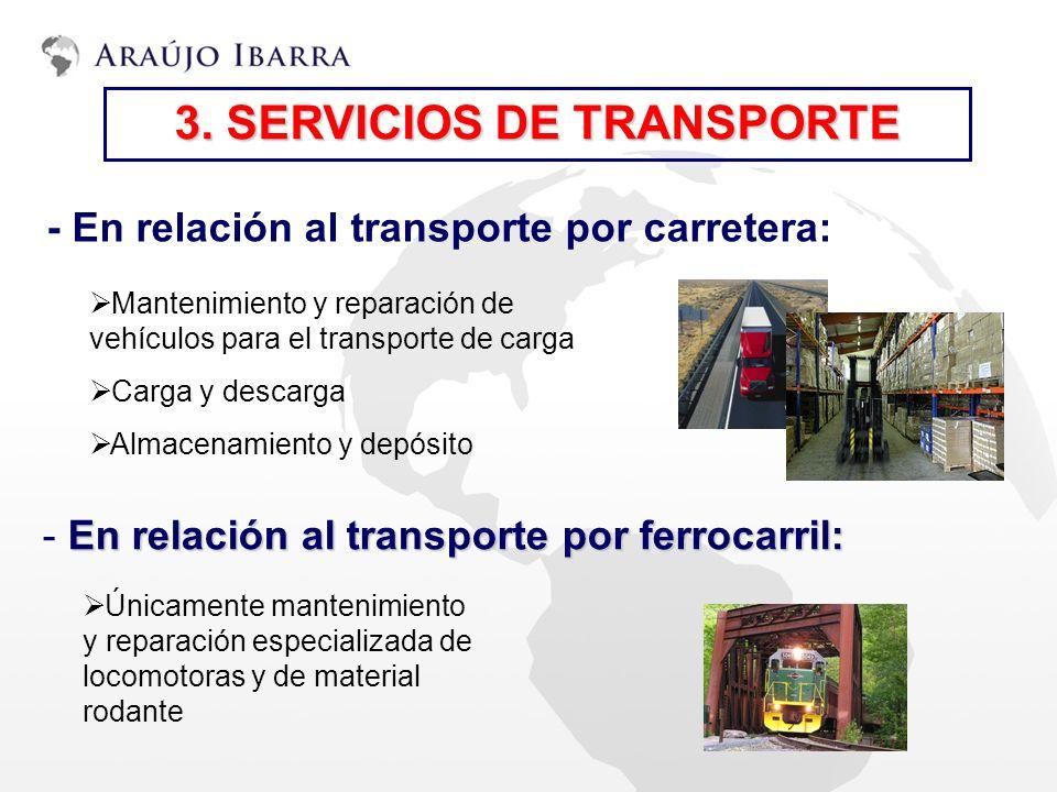 3. SERVICIOS DE TRANSPORTE