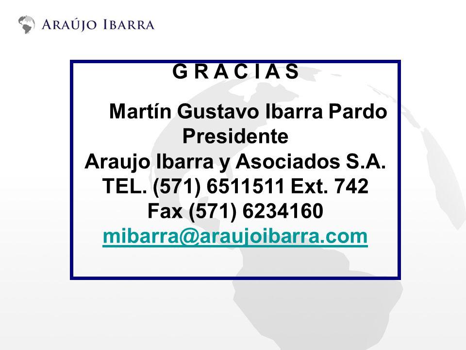 G R A C I A S Martín Gustavo Ibarra Pardo Presidente
